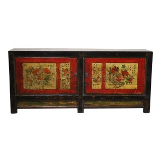 1920s Vintage Chinese Painted Sideboard For Sale