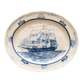 Oxney Green Nautical Sailing Ship Serving Platter