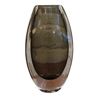 Nils Landberg for Orrefors Sweden Swollen Oval Vase For Sale