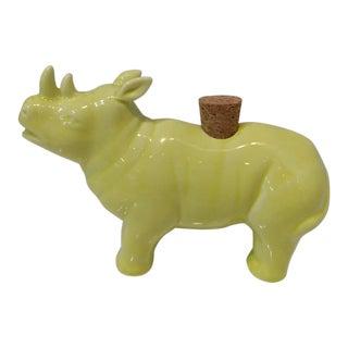 Imm Living Rhinoceros Cruet For Sale