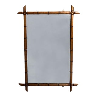 Chinoiserie Style Faux Bamboo Mirror For Sale