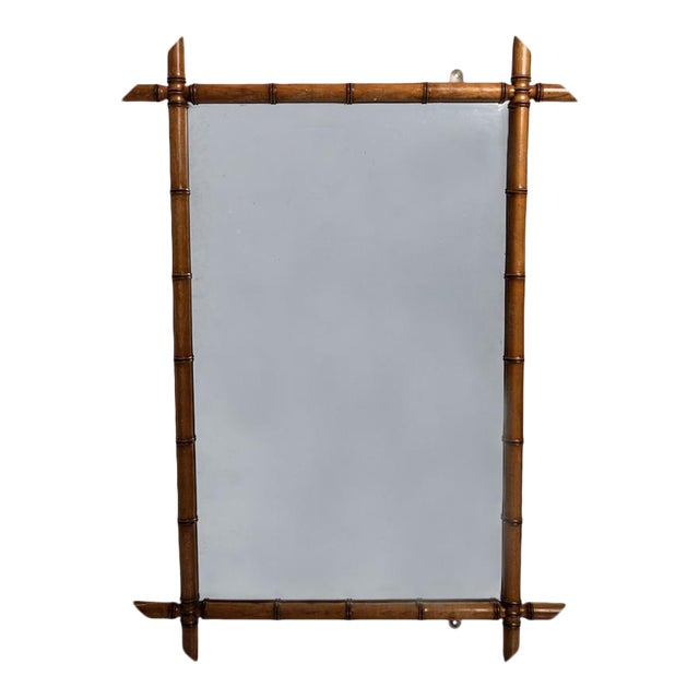 FAUX BAMBOO MIRROR For Sale