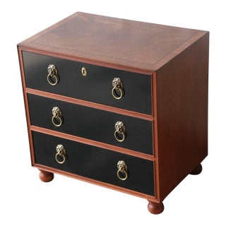 Fine Three-Drawer Chest or Nightstand by Baker Furniture For Sale