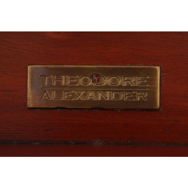 Theodore Alexander Regency Style Flame Mahogany Sideboard or Bar Cabinet For Sale - Image 12 of 13