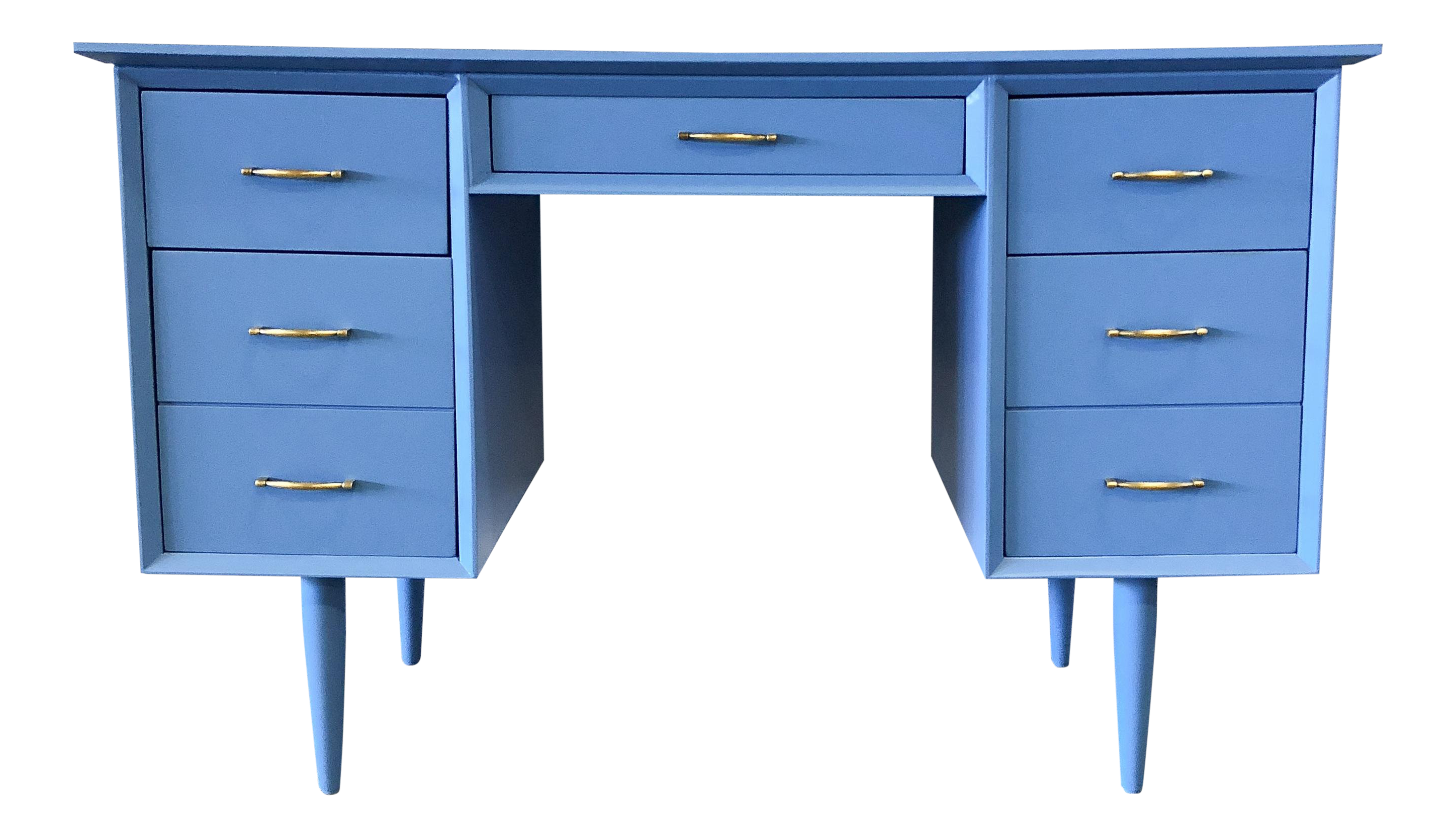 custom standing desk kidney shaped mid. Unique Shaped 1960s MidCentury Modenr Blue Lacquer Tanker DeskVanity Inside Custom Standing Desk Kidney Shaped Mid