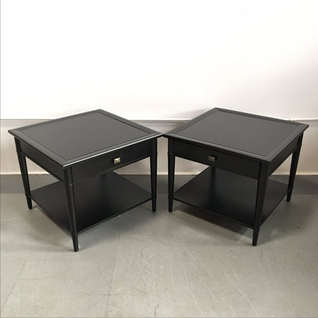 Henredon Black Lacquered Nightstands - A Pair - Image 3 of 5