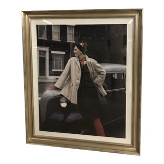 Woman Leaning on Car Photograph For Sale