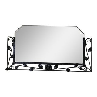 Circa 1930 French Cast Iron Mirror For Sale