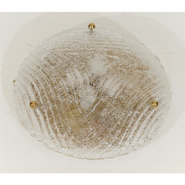 Mid-Century Modern Round Domed Flush Mount by Hillebrand For Sale - Image 3 of 8