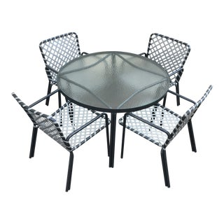 Mid-Century Modern Brown Jordan Tamiami Patio Dining Set - 5 Pieces For Sale