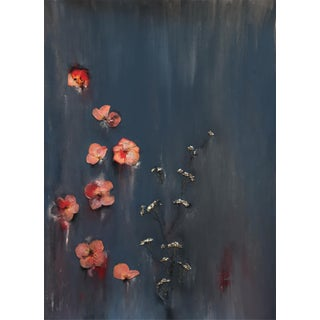 """""""I Must Have Flowers. Always and Always 1"""" Contemporary Abstract Botanical Mixed-Media Painting For Sale"""