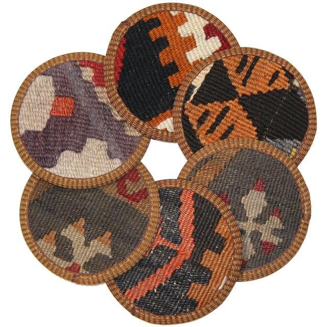 Kilim Karaman Coasters - Set of 6 - Image 1 of 2