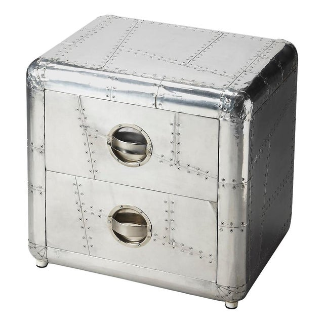 Aluminum Aviator Metal Side Table - Image 1 of 5