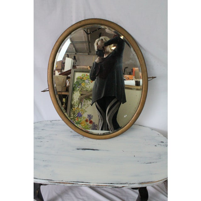1910s Early 20th Century Antique Gold Beveled Mirror For Sale - Image 5 of 5