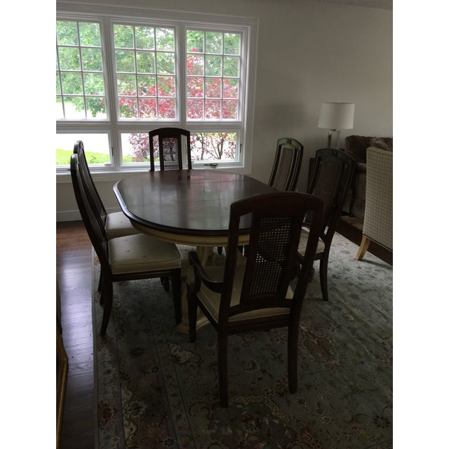 Blonde Mahogany Dining Set - Image 2 of 11