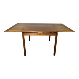 1970s Danish Modern Ansager Mobler Teak Refractory Dining Table For Sale