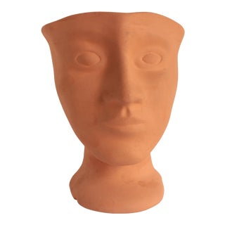 Terracotta Pottery Head Vase For Sale