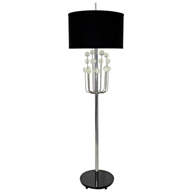 Mid-Century Modern Chrome Floor Lamp Lucite Balls by Laurel For Sale - Image 11 of 11