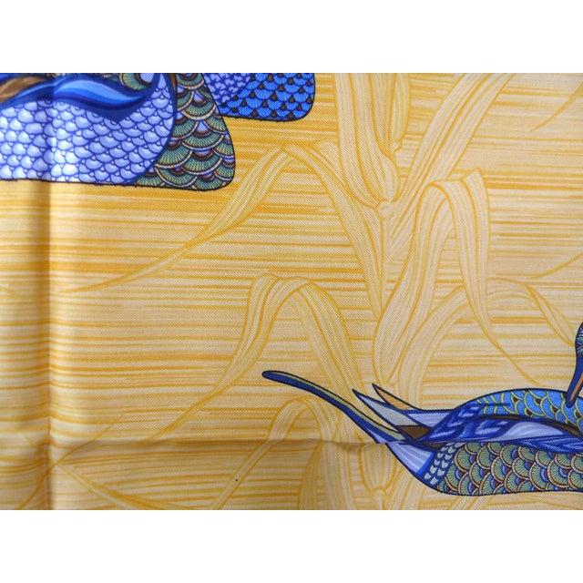 Silk 1981 Unused Hermès La Mare Aux Canards Scarf For Sale - Image 7 of 8