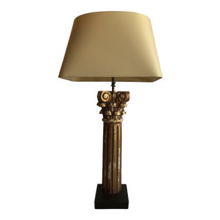 Italian Architectural Column Table Lamp For Sale