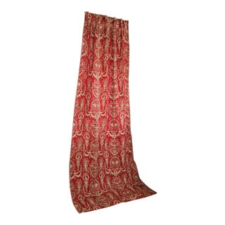 C 1870 French Red Toile Drape For Sale