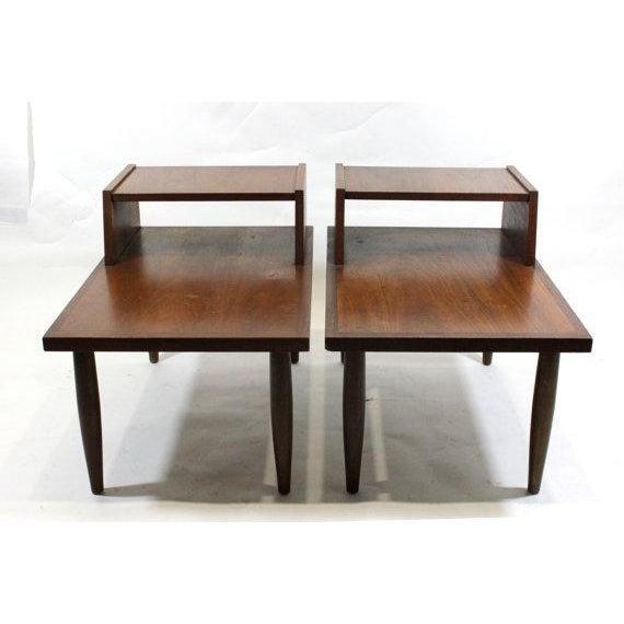 Mid Century Walnut Side Tables - Pair - Image 2 of 4