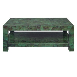 Kravet Andrews Jade Green Shell Coffee Table