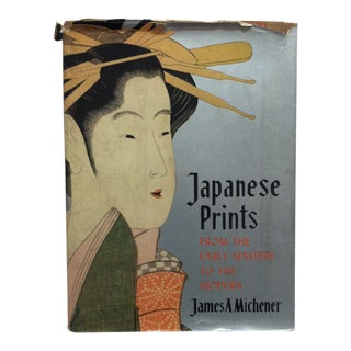 """1960 """"Japaneses Prints From the Early Masters to the Modern"""" by James A. Michener Coffee Table Display Book For Sale"""