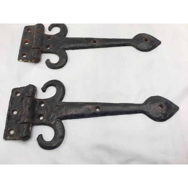 English Cottage Hand Forged Door Hinges - A Pair - Image 9 of 9