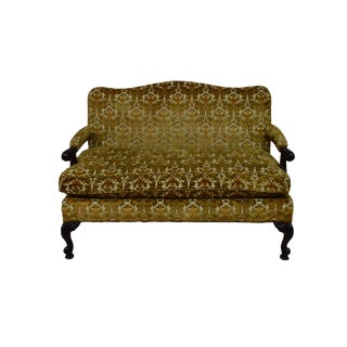 Late 20th Century Vintage Carved Settee Loveseat For Sale