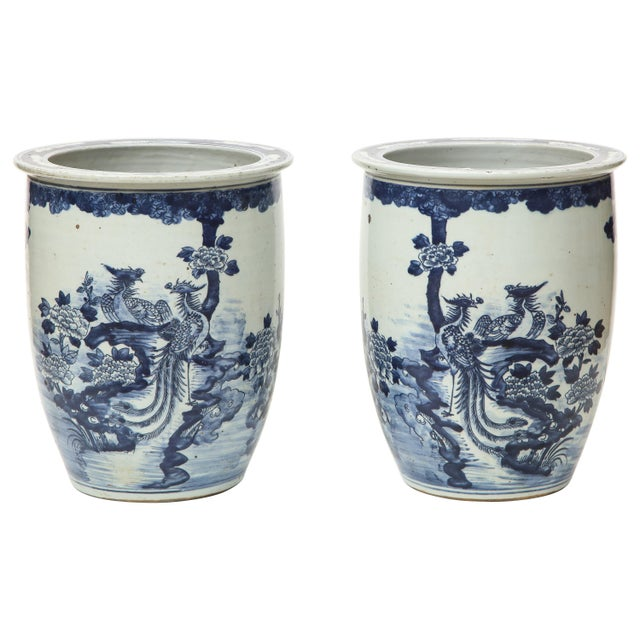 Chinese Blue and White Planters - A Pair For Sale - Image 13 of 13
