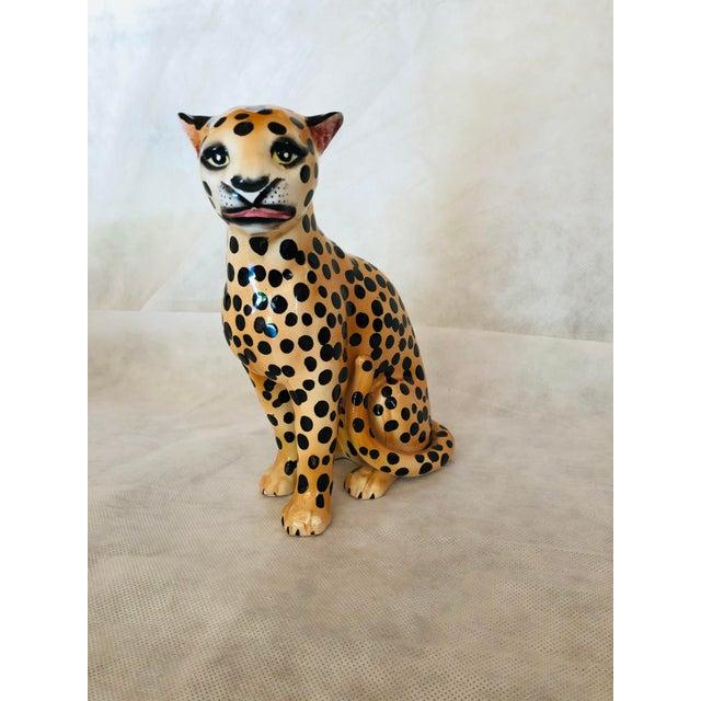 1970s Ceramic Cheetah Figurine For Sale - Image 9 of 9