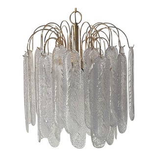 Vintage Mid-Century Modernist Murano Glass Chandelier For Sale