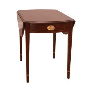 Henkel Harris Hepplewhite Style Mahogany Drop Leaf Pembroke Table For Sale