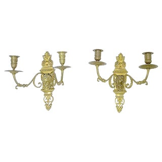 Antique Louis XVI-Style Candle Sconces - a Pair For Sale