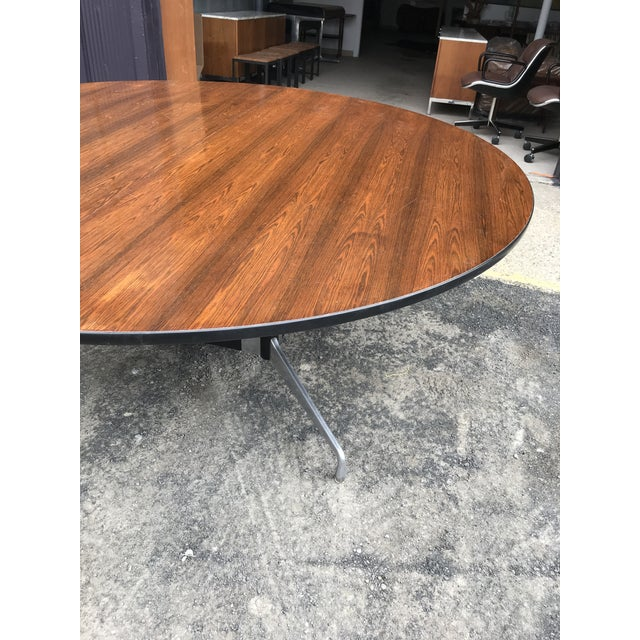 """1970s 78""""d Eames Herman Miller Rosewood Conference Table For Sale - Image 5 of 12"""