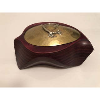 1970's Mid-Century Signed Organic Form Brass and Rosewood Brutalist Box Preview