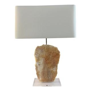 Alabaster Slab Table Lamp