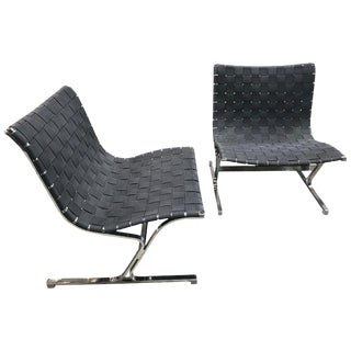 Ross Littel Luar Lounge Chairs for ICF De Padova, Italy, 1965 - a Pair For Sale