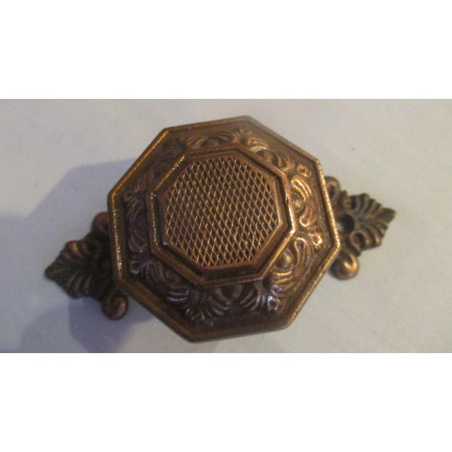 English 1970s Vintage European Metal Door Knobs - a Pair For Sale - Image 3 of 6