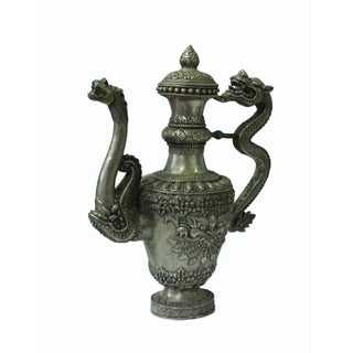 Silverware 3d Dragon & Foo Dog Object Ancient Ceremony Teapot Wine Pot Preview