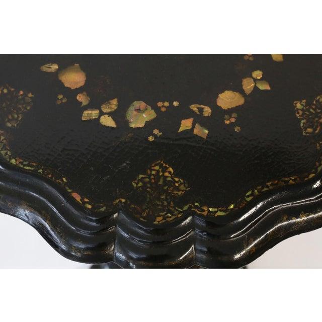 Edwardian 19th Century Papier Mâché Table For Sale - Image 3 of 12