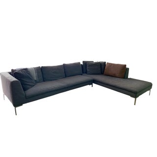 B & B Italia Charles Sofa by Antonio Citterio For Sale