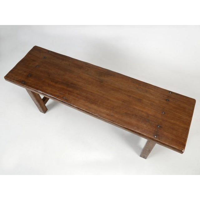 French Farm Table With Matching Benches - 3 Pc. Set For Sale In Chicago - Image 6 of 13