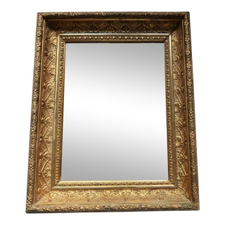 Antique Gold Leafed Frame With Mirror - Late 18th Century For Sale