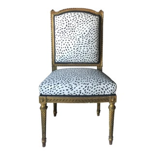 Gilt Antique Side Chair For Sale