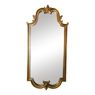 Vintage Gold Gilt Scroll Mirror For Sale