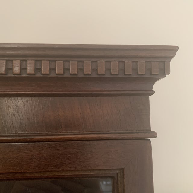 Antique Mahogany China Display Cabinet For Sale - Image 10 of 13
