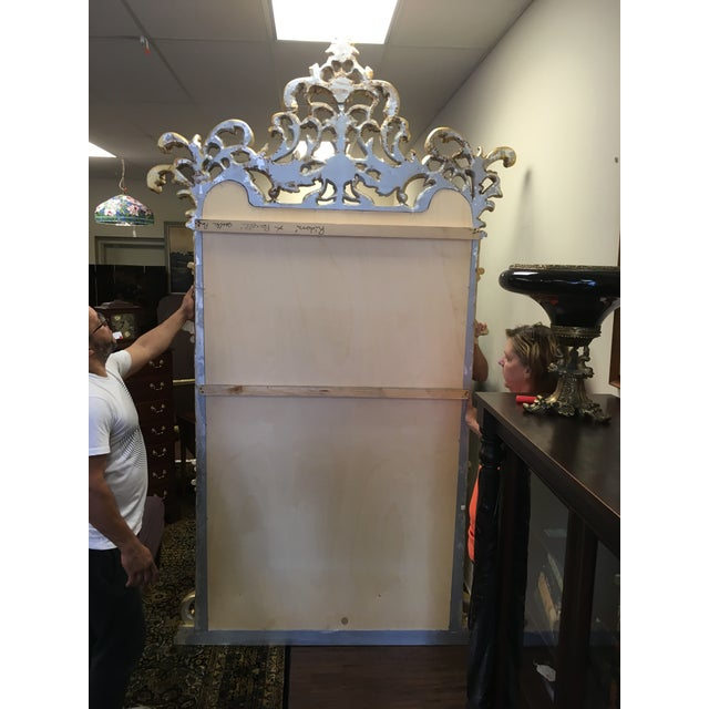 1990s Vintage Italian Gilded Pier Mirror For Sale - Image 12 of 13