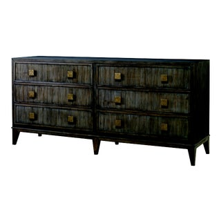 Century Furniture Carlyle 6 Drawer Dresser, Mink Grey Finish For Sale